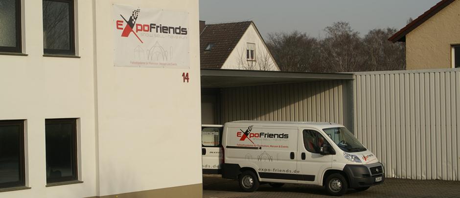 ExpoFriends Lager-Anlieferung